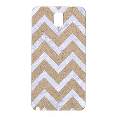 Chevron9 White Marble & Sand Samsung Galaxy Note 3 N9005 Hardshell Back Case by trendistuff