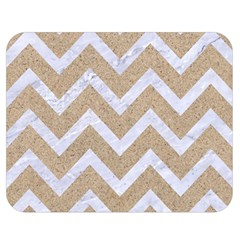 Chevron9 White Marble & Sand Double Sided Flano Blanket (medium)  by trendistuff