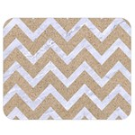 CHEVRON9 WHITE MARBLE & SAND Double Sided Flano Blanket (Medium)  60 x50 Blanket Front