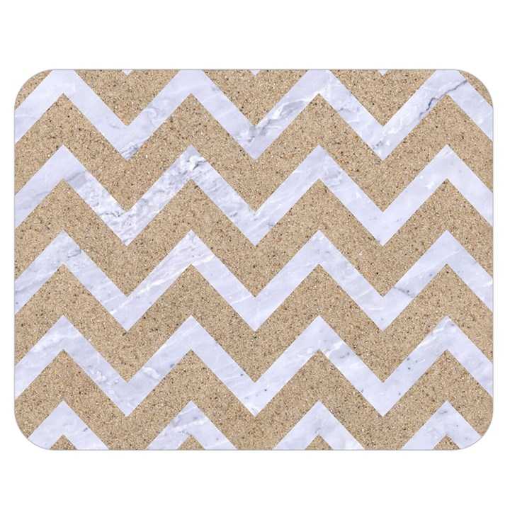 CHEVRON9 WHITE MARBLE & SAND Double Sided Flano Blanket (Medium)