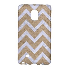 Chevron9 White Marble & Sand Galaxy Note Edge by trendistuff