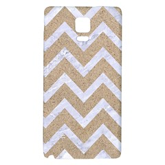Chevron9 White Marble & Sand Galaxy Note 4 Back Case by trendistuff