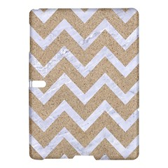 Chevron9 White Marble & Sand Samsung Galaxy Tab S (10 5 ) Hardshell Case