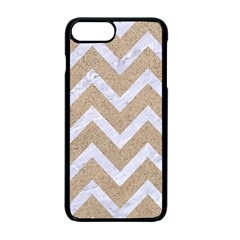 Chevron9 White Marble & Sand Apple Iphone 7 Plus Seamless Case (black) by trendistuff