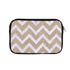 Chevron9 White Marble & Sand Apple Macbook Pro 13  Zipper Case by trendistuff