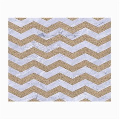 Chevron3 White Marble & Sand Small Glasses Cloth (2 Side)