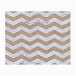 CHEVRON3 WHITE MARBLE & SAND Small Glasses Cloth (2-Side) Back