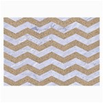 CHEVRON3 WHITE MARBLE & SAND Large Glasses Cloth (2-Side) Front