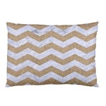 CHEVRON3 WHITE MARBLE & SAND Pillow Case 26.62 x18.9  Pillow Case