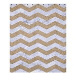 CHEVRON3 WHITE MARBLE & SAND Shower Curtain 60  x 72  (Medium)  54.25 x65.71 Curtain