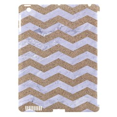 Chevron3 White Marble & Sand Apple Ipad 3/4 Hardshell Case (compatible With Smart Cover) by trendistuff