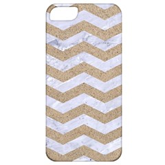Chevron3 White Marble & Sand Apple Iphone 5 Classic Hardshell Case by trendistuff