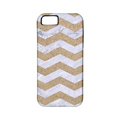 Chevron3 White Marble & Sand Apple Iphone 5 Classic Hardshell Case (pc+silicone)