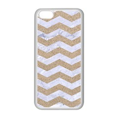Chevron3 White Marble & Sand Apple Iphone 5c Seamless Case (white) by trendistuff
