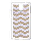 CHEVRON3 WHITE MARBLE & SAND Samsung Galaxy Note 3 N9005 Case (White) Front