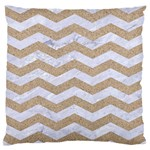 CHEVRON3 WHITE MARBLE & SAND Standard Flano Cushion Case (One Side) Front