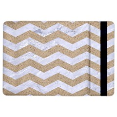 Chevron3 White Marble & Sand Ipad Air 2 Flip by trendistuff