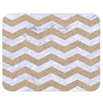 CHEVRON3 WHITE MARBLE & SAND Double Sided Flano Blanket (Medium)  60 x50 Blanket Front