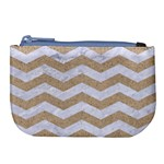 CHEVRON3 WHITE MARBLE & SAND Large Coin Purse Front