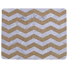 Chevron3 White Marble & Sand Jigsaw Puzzle Photo Stand (rectangular)