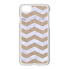Chevron3 White Marble & Sand Apple Iphone 7 Seamless Case (white)