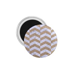 Chevron2 White Marble & Sand 1 75  Magnets by trendistuff