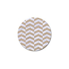 Chevron2 White Marble & Sand Golf Ball Marker (4 Pack) by trendistuff