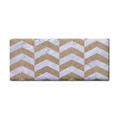 Chevron2 White Marble & Sand Cosmetic Storage Cases