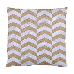 Chevron2 White Marble & Sand Standard Cushion Case (two Sides) by trendistuff