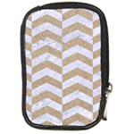 CHEVRON2 WHITE MARBLE & SAND Compact Camera Cases Front