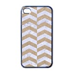 CHEVRON2 WHITE MARBLE & SAND Apple iPhone 4 Case (Black) Front