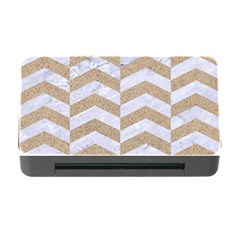Chevron2 White Marble & Sand Memory Card Reader With Cf by trendistuff