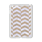 CHEVRON2 WHITE MARBLE & SAND iPad Mini 2 Enamel Coated Cases Front