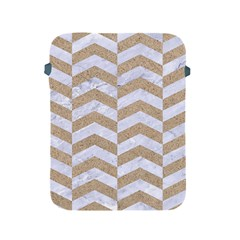 Chevron2 White Marble & Sand Apple Ipad 2/3/4 Protective Soft Cases by trendistuff