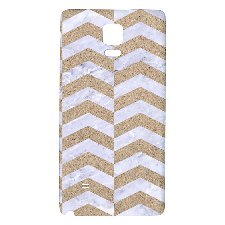 CHEVRON2 WHITE MARBLE & SAND Galaxy Note 4 Back Case