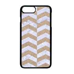 Chevron2 White Marble & Sand Apple Iphone 7 Plus Seamless Case (black)