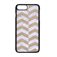 Chevron2 White Marble & Sand Apple Iphone 8 Plus Seamless Case (black)