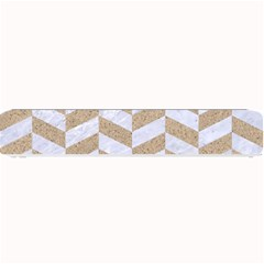 Chevron1 White Marble & Sand Small Bar Mats by trendistuff