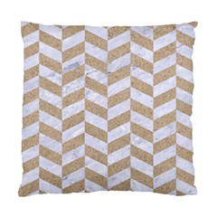 Chevron1 White Marble & Sand Standard Cushion Case (one Side) by trendistuff