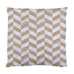 CHEVRON1 WHITE MARBLE & SAND Standard Cushion Case (Two Sides) Back