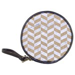 CHEVRON1 WHITE MARBLE & SAND Classic 20-CD Wallets Front