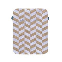 Chevron1 White Marble & Sand Apple Ipad 2/3/4 Protective Soft Cases by trendistuff