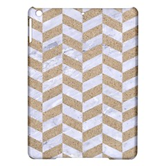 Chevron1 White Marble & Sand Ipad Air Hardshell Cases by trendistuff