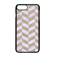 Chevron1 White Marble & Sand Apple Iphone 7 Plus Seamless Case (black) by trendistuff