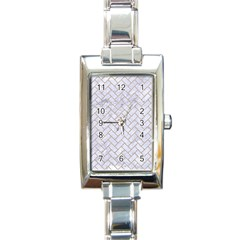 Brick2 White Marble & Sand (r) Rectangle Italian Charm Watch by trendistuff