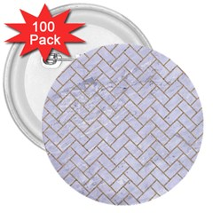 BRICK2 WHITE MARBLE & SAND (R) 3  Buttons (100 pack)