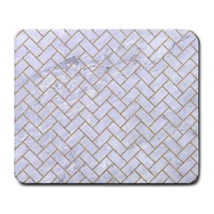 BRICK2 WHITE MARBLE & SAND (R) Large Mousepads