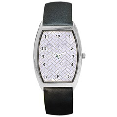 Brick2 White Marble & Sand (r) Barrel Style Metal Watch by trendistuff