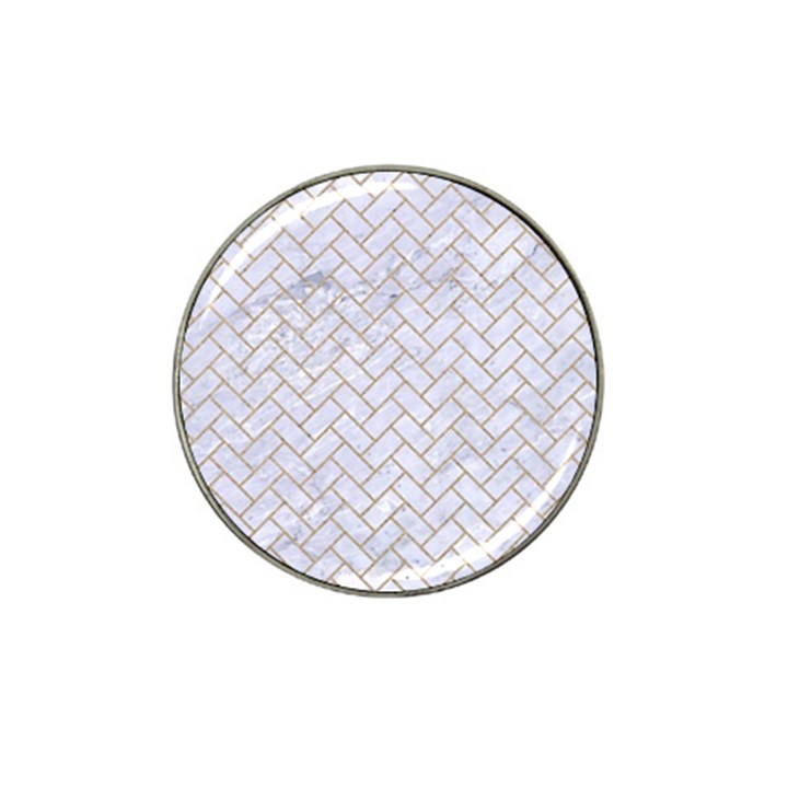 BRICK2 WHITE MARBLE & SAND (R) Hat Clip Ball Marker (4 pack)