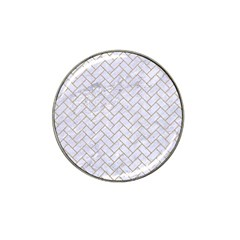 BRICK2 WHITE MARBLE & SAND (R) Hat Clip Ball Marker (10 pack)